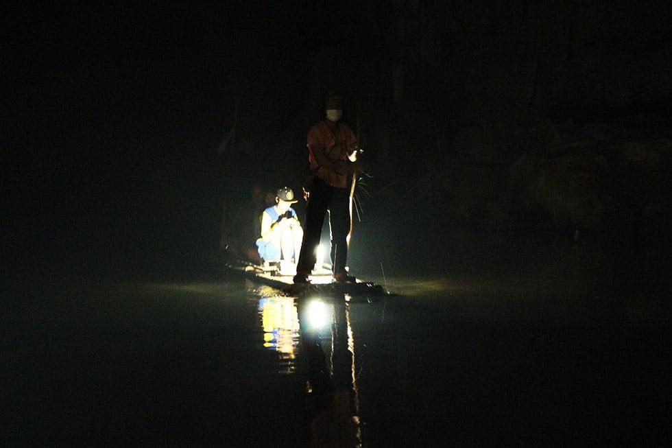 Bamboo raft Lod Cave