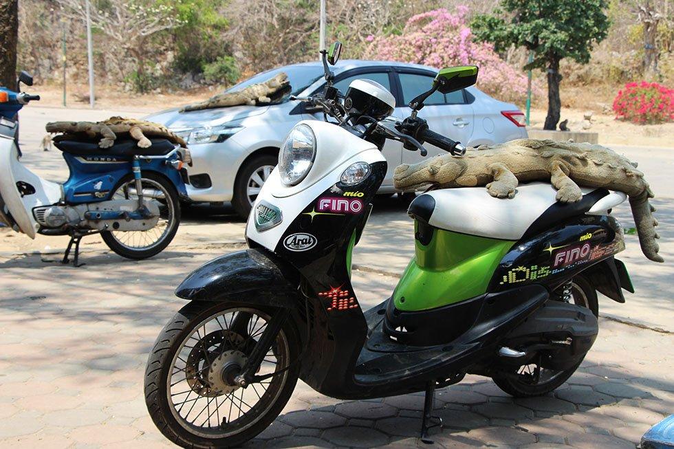 Khao Luang Cave Petchaburi parkeerplaats