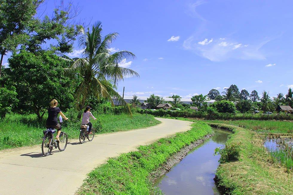 Fietsen door Chiang Mai