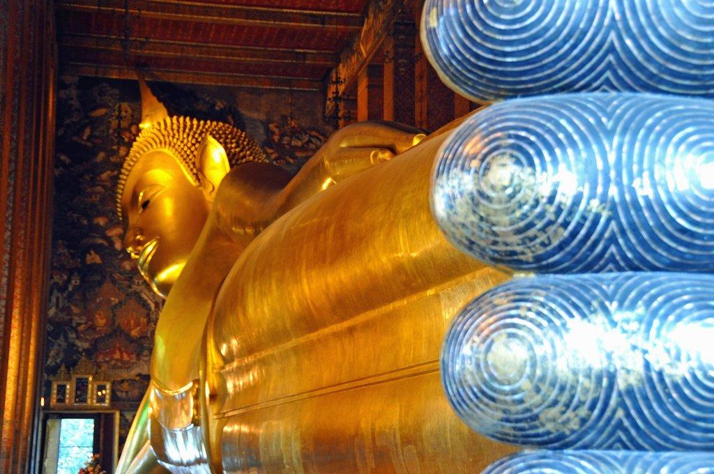 Wat Pho: liggende Boeddha
