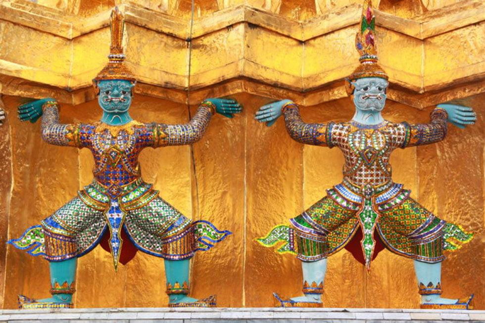 Schitterende beelden bij Wat Phra Kaew - Tempels Bangkok