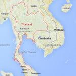 Kaart Thailand - Landinformatie Thailand