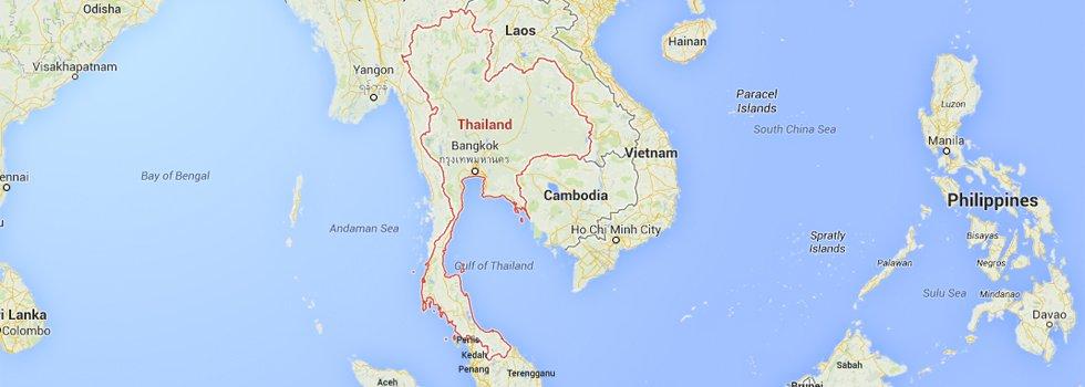Ligging Thailand