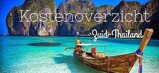 Kosten-Zuid-Thailand