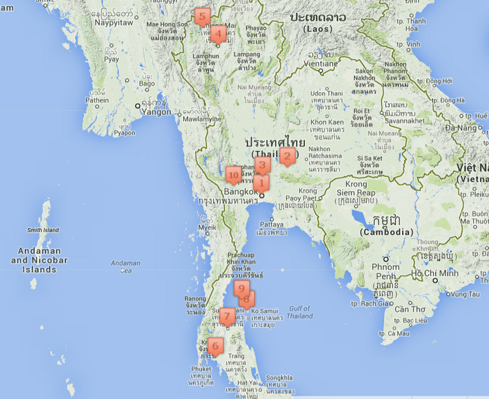 route thailand 2a3 weken
