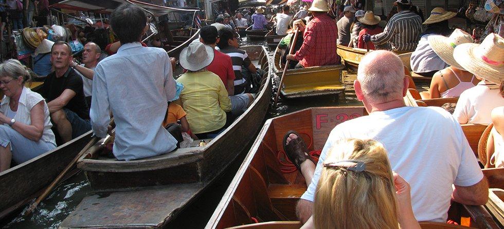Veel toeristen Thailand