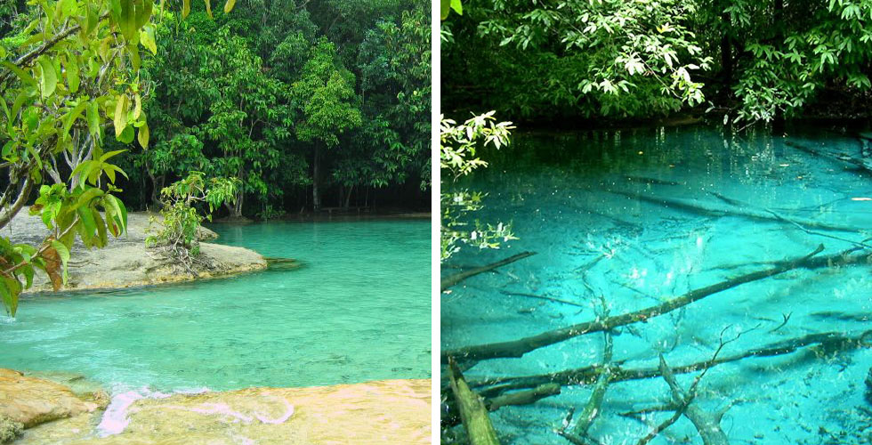 Emerald Pool - Blue Pool - Crystal Pool