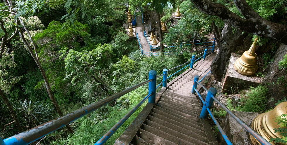 Treden Tiger Cave Tempel