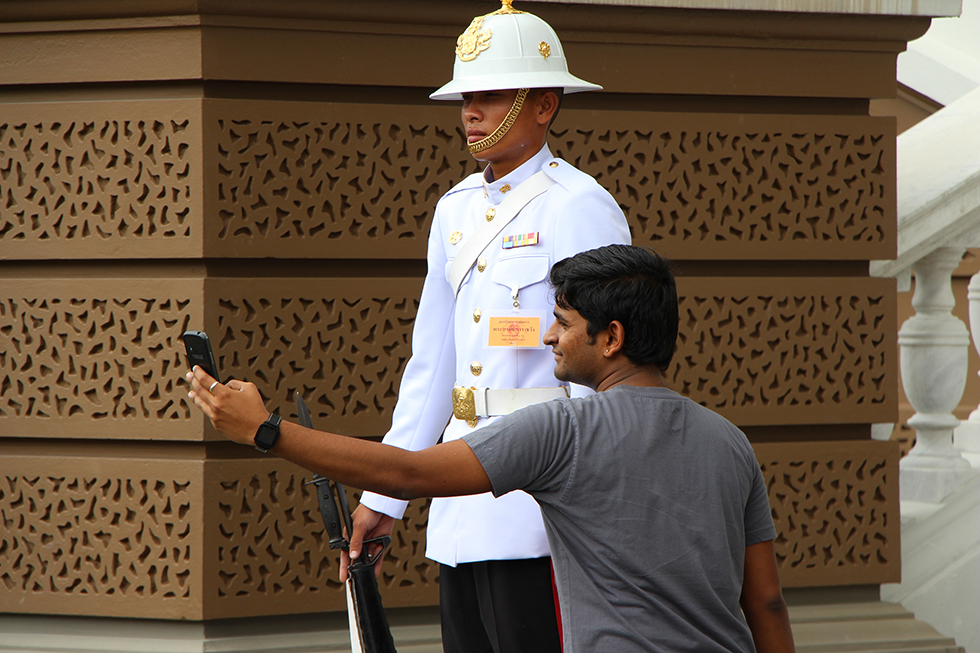 Grand Palace Bangkok - selfie - Wat Phra Kaew