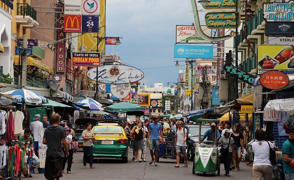 Khao San Road - Bezienswaardigheden Bangkok