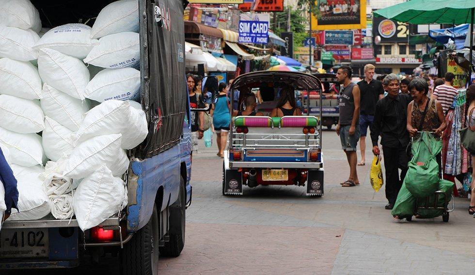 Tuktuk Khao San Road. TipsThailand.nl