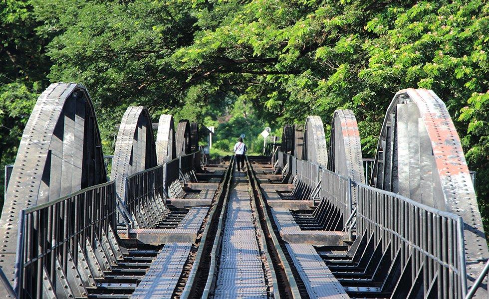 Brug over de rivier Kwai - Birma-spoorlijn