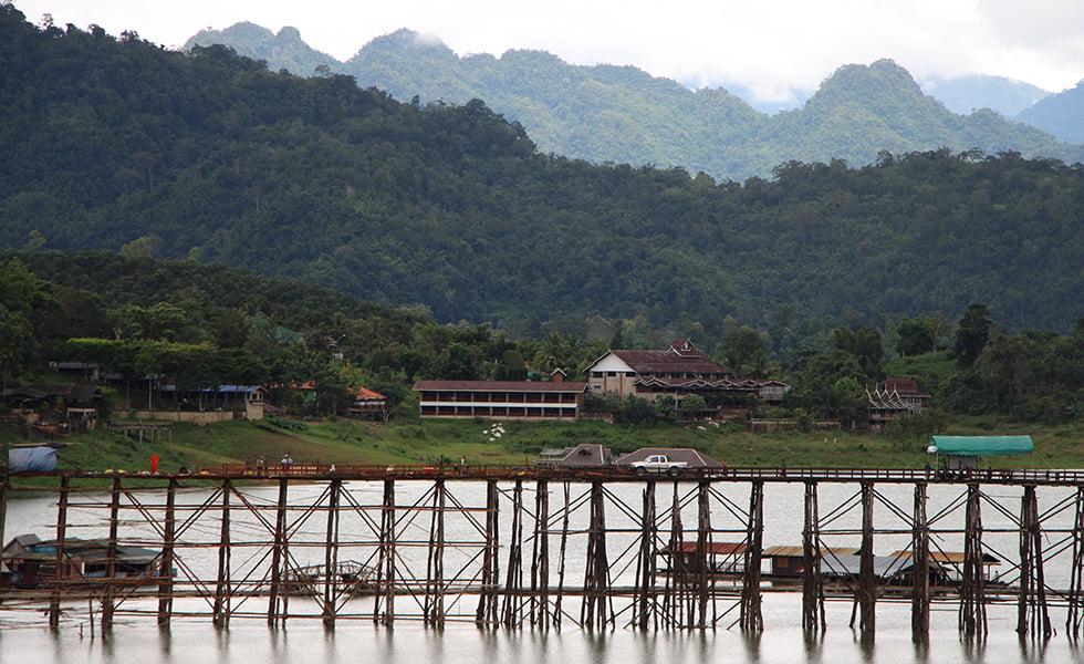Sangkhlaburi houten brug
