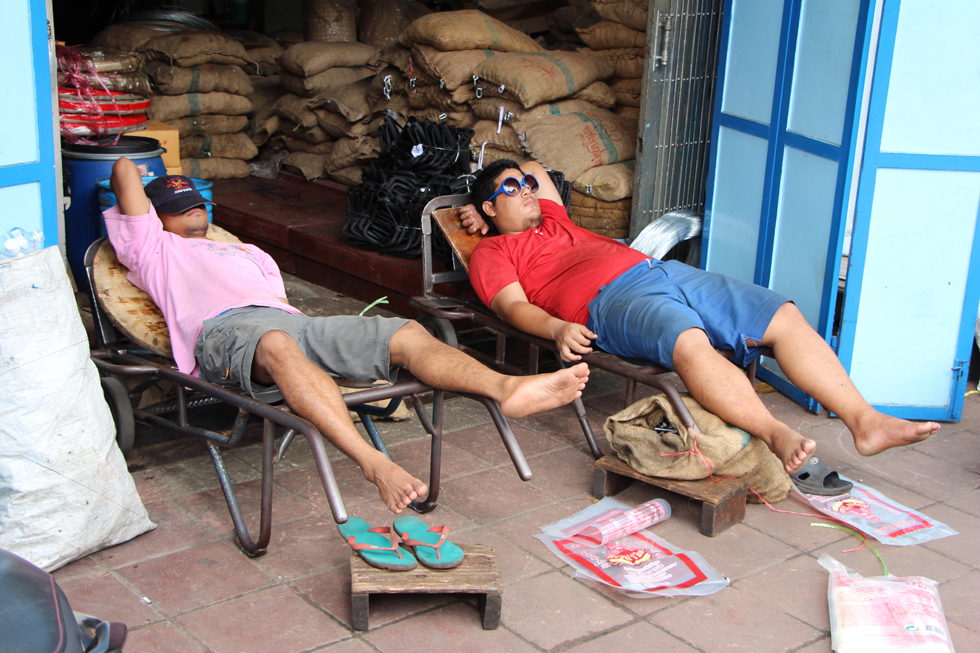 Even relaxen na hard werk - Chinatown Bangkok