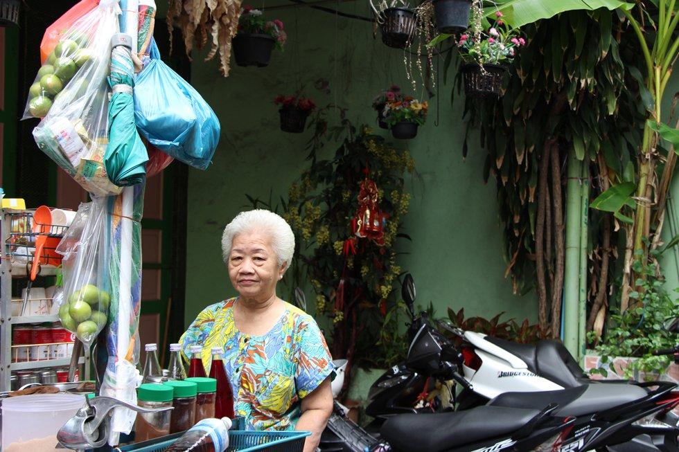 Een straatventer in Chinatown Bangkok