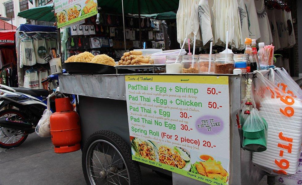 Straat eten in Bangkok - Kosten Bangkok