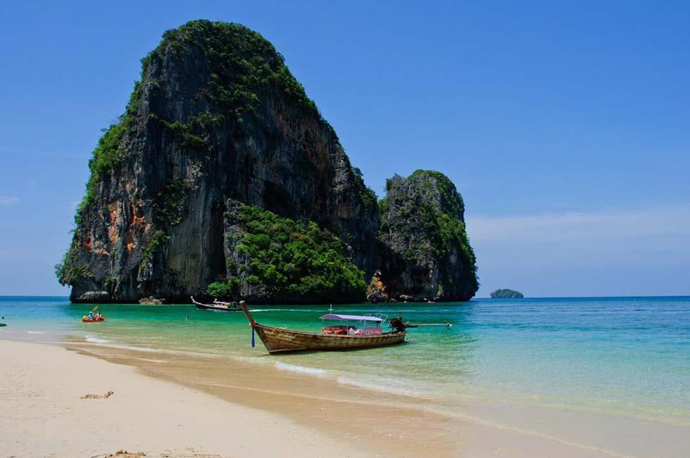 Railay Beach staat ook in de route voor Thailand