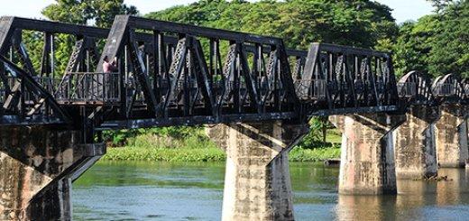 Brug over de rivier de Kwai