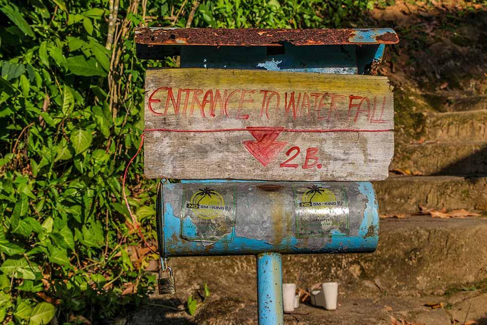 Entree Hin Lad Waterval op Koh Samui