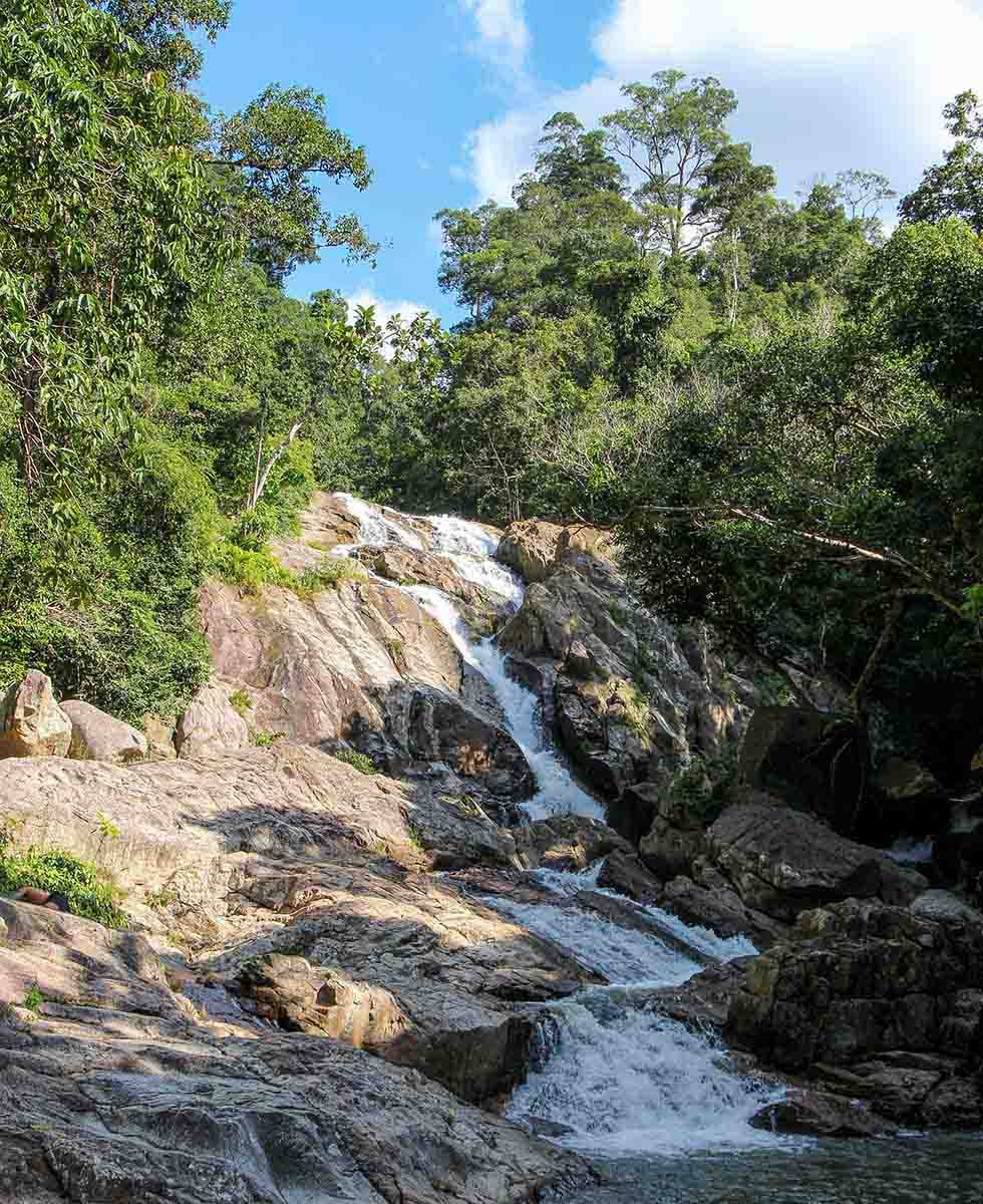 Hin Lad Waterfall op Koh Samui