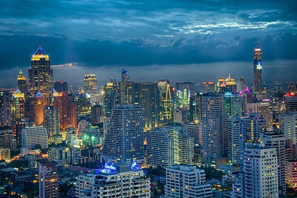 Skyline van Bangkok - Foto: Eustaquio Santimano