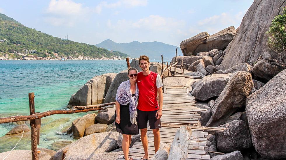 Sander en Mariska op Koh Nang Yuan