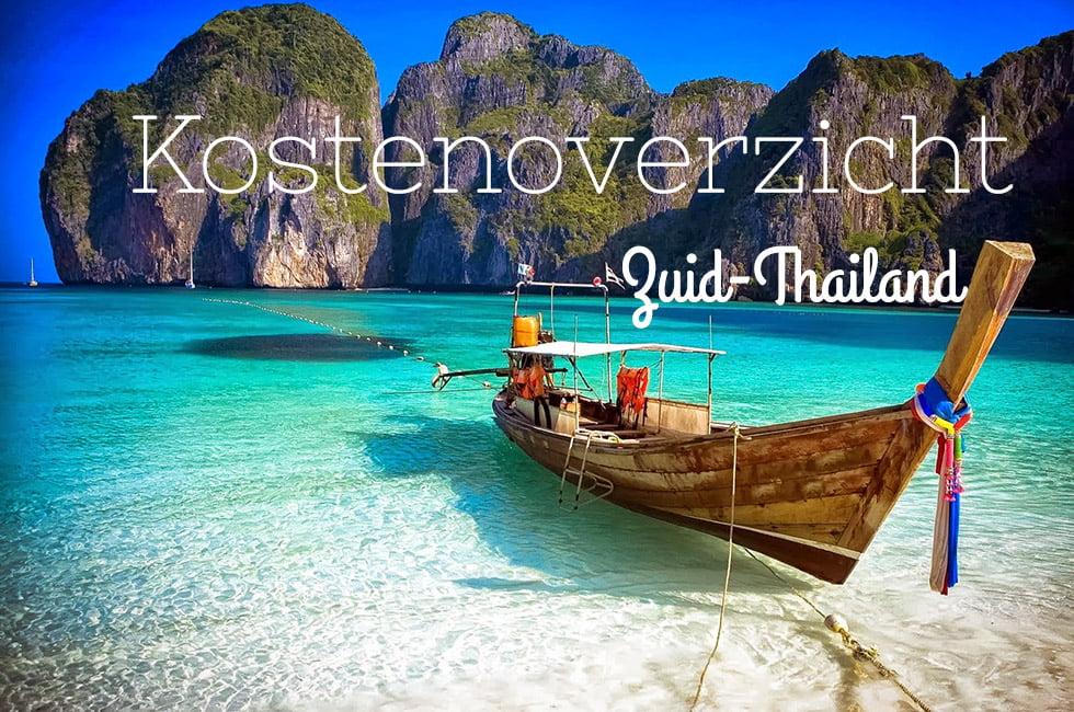 Kosten Zuid Thailand