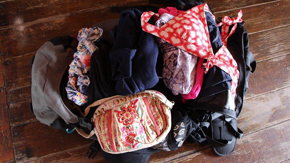 Mijn backpack is altijd ontploft