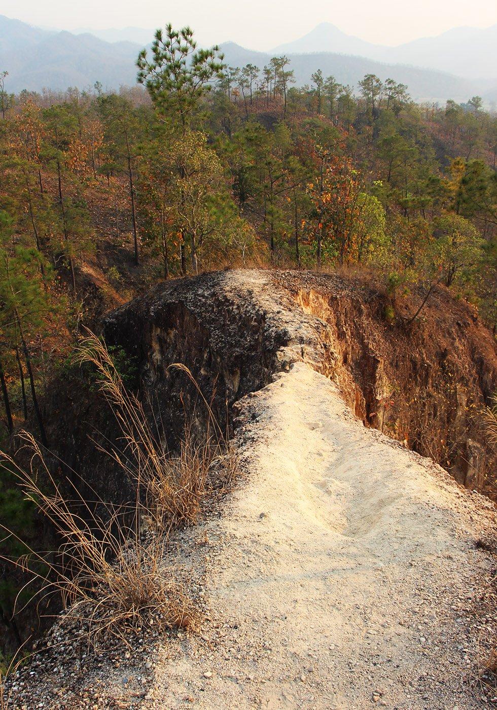 Pai Canyon gevaarlijk pad