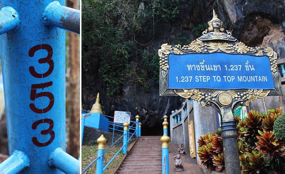 Tiger Cave Tempel 1237 treden