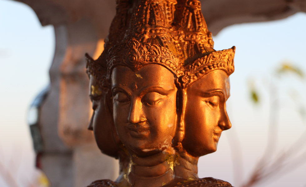 Tiger Cave Tempel Buddha hoofden