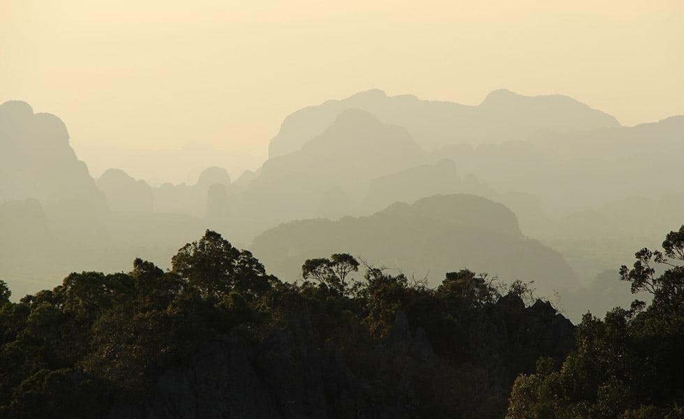 Tiger Cave Tempel uitzicht