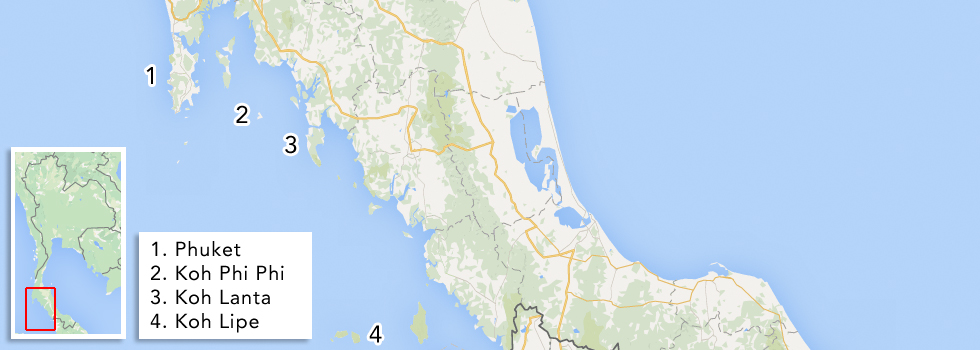 Eilanden Thailand - Andamanse Zee