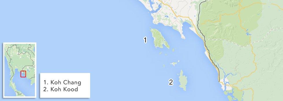 Eilanden Thailand - Oostelijke Golf van Thailand