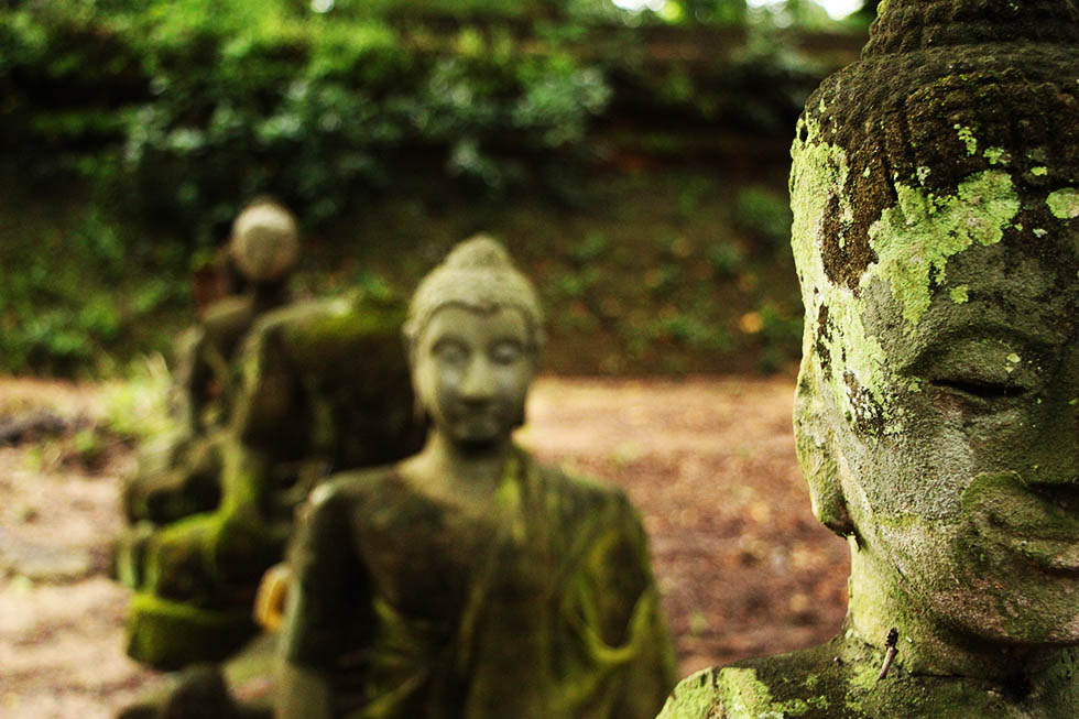 Boeddhabeeldenn bij Wat Umong2