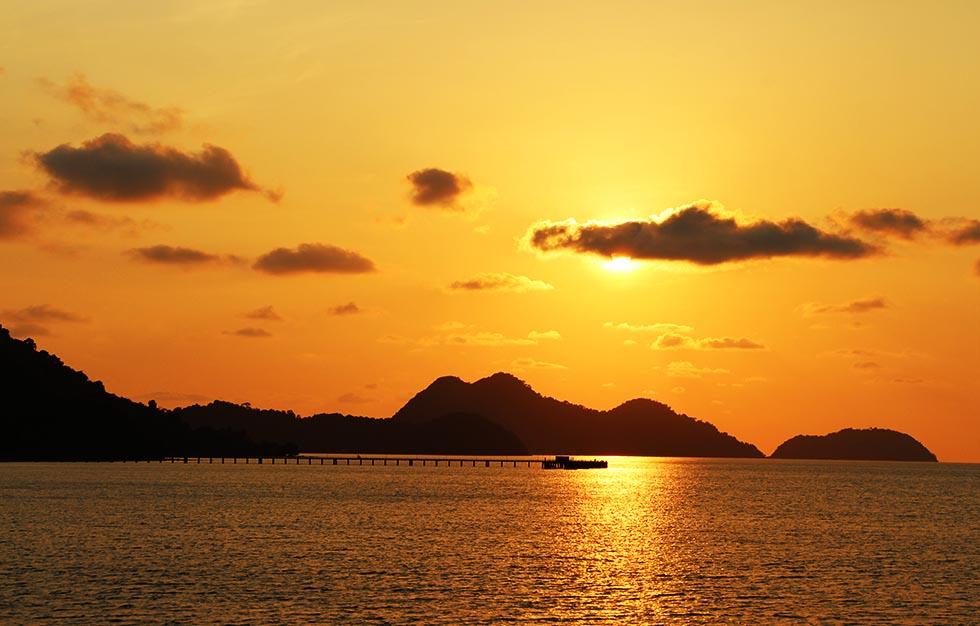 Zonsondergang op Koh Chang