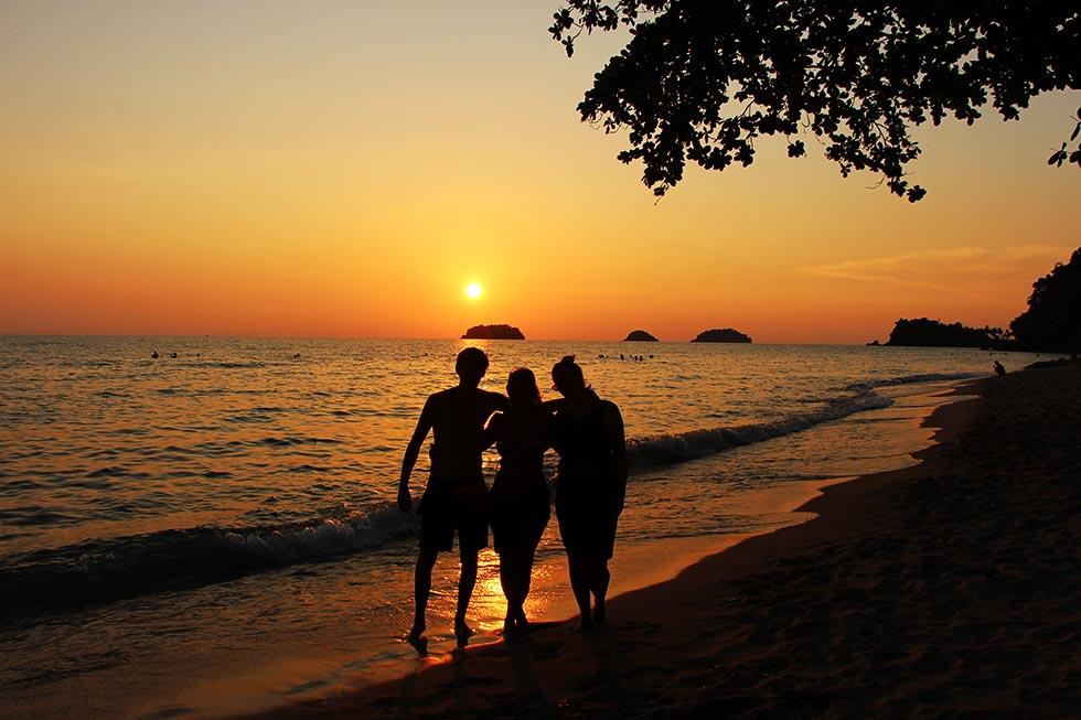 Zonsondergang Lonely Beach Koh Chang