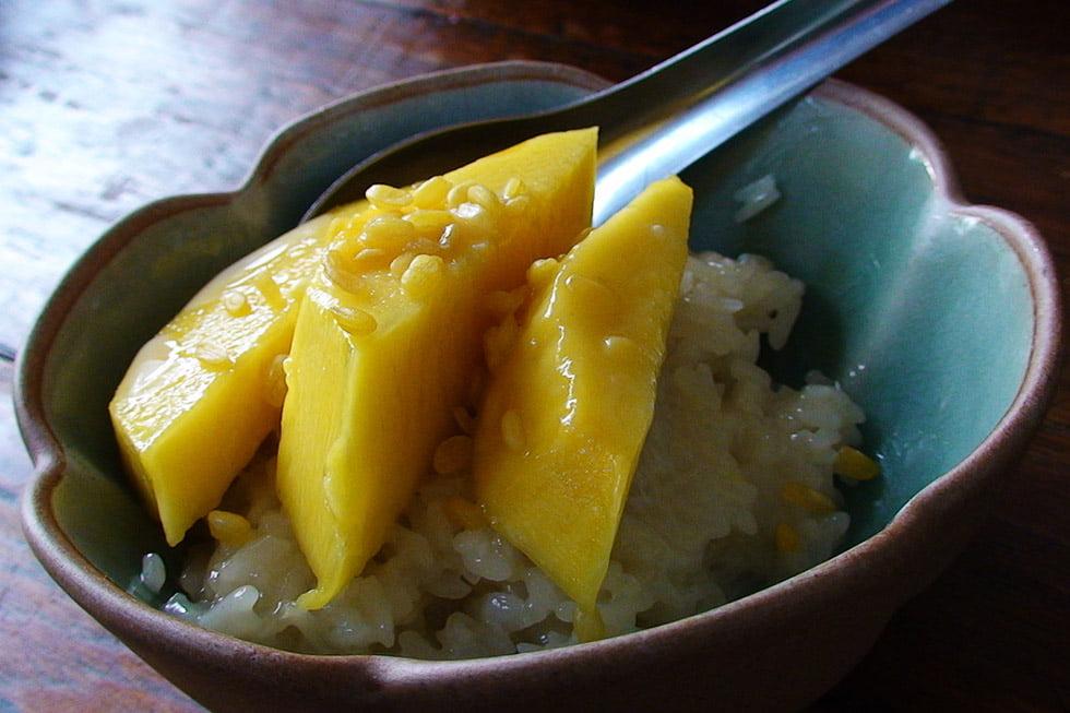 Thaise gerechten - Mango sticky rice