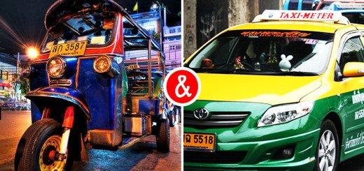 Taxi's en tuktuks in Bangkok