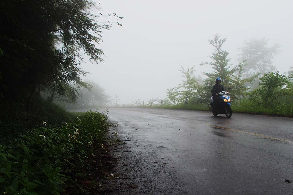 De afdaling van de Phu Chi Fa berg was een uitdaging!