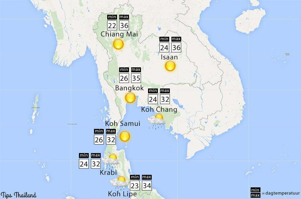 wat voor weer wordt het april thailand