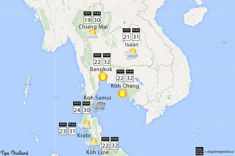 november weer thailand tips regen zon
