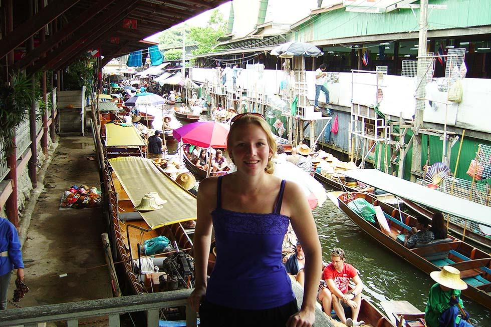 Anouk (2009) toen ze voor het eerst naar Thailand kwam!