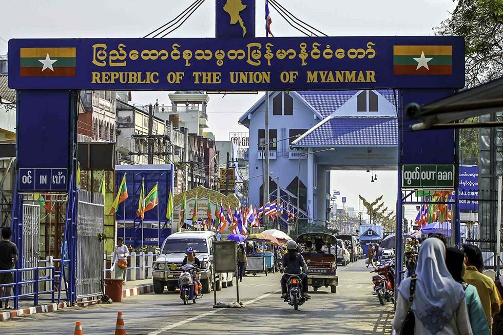 Grensovergang met Birma bij Mae Sai.