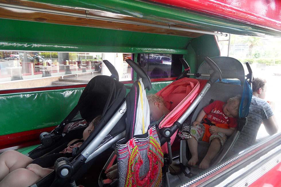Vervoer in de (rode) taxi in Chiang Mai