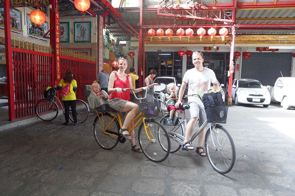 Reizen met kinderen fietstocht Bangkok