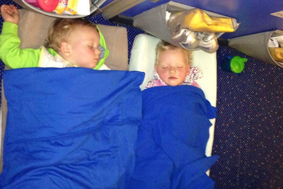Lekker slapen in het vliegtuig!