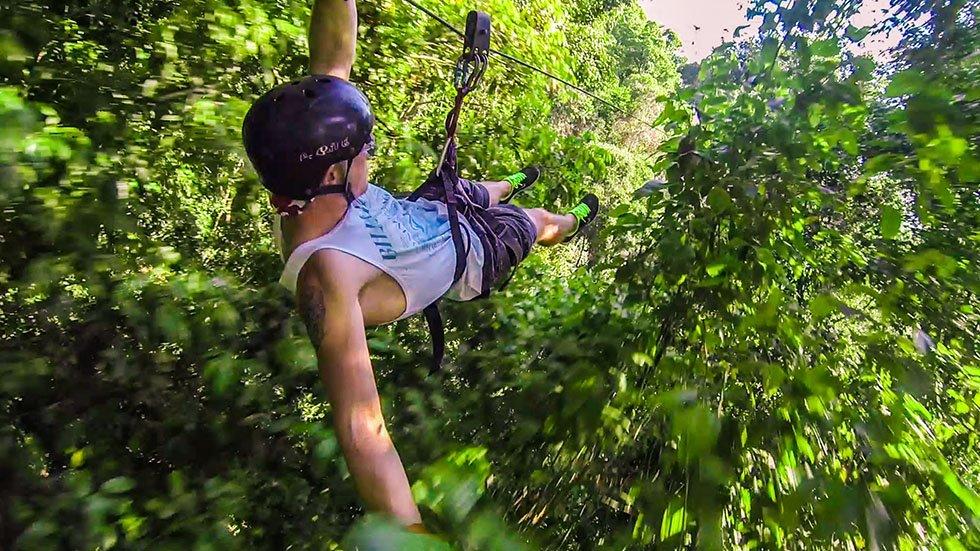 Ziplinen Thailand avontuur