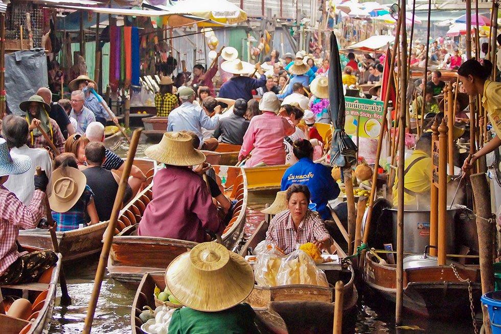 Damnoen Saduak Floating Market - Bezienswaardigheden Bangkok