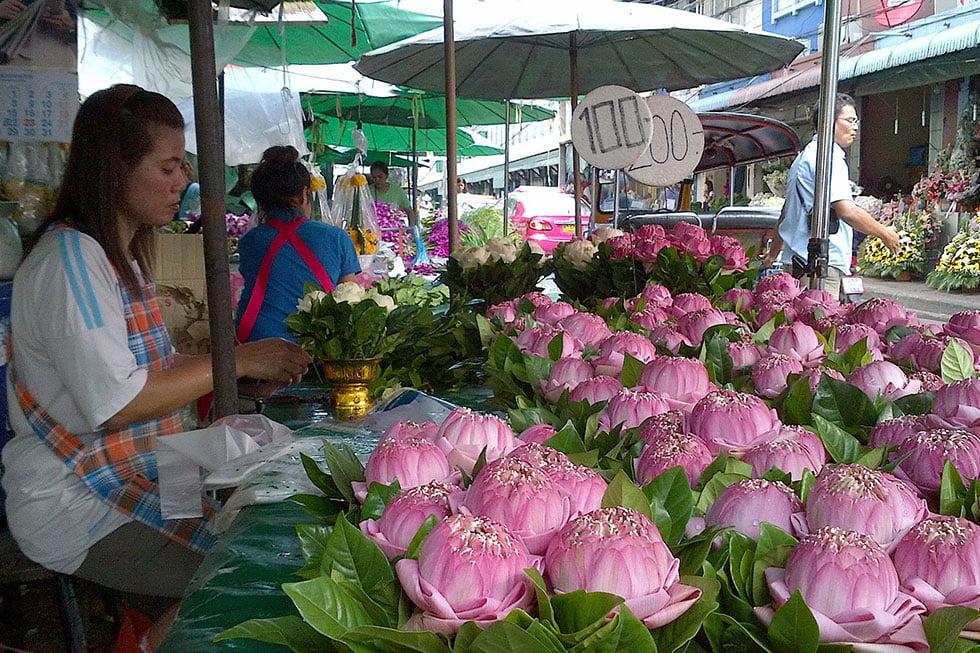 Flower Market in Bangkok - Bezienswaardigheden Bangkok